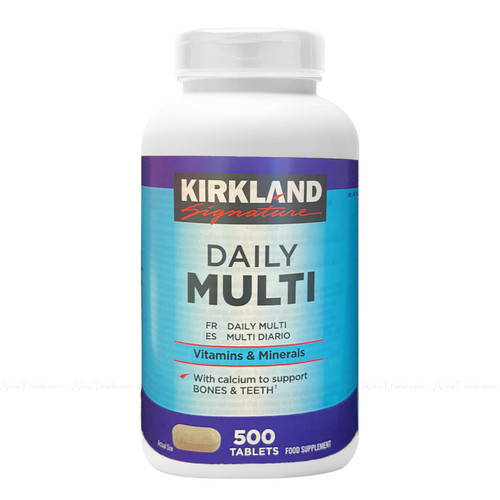 Kirkland Signature Daily Multi Vitamins & Minerals Nutritional Health 500 Tablets