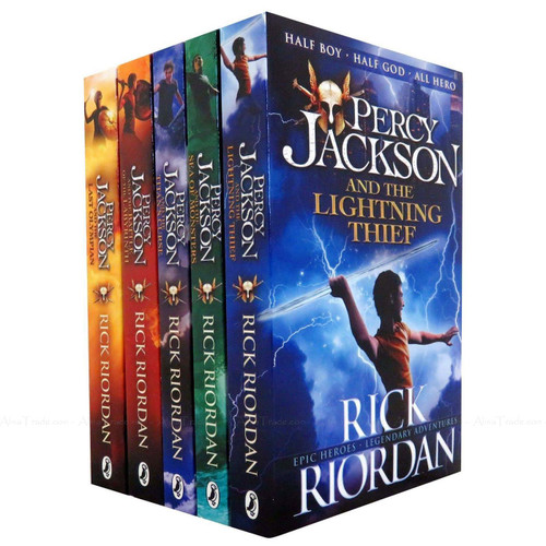 Percy Jackson 5 Books Stories Classic Adventure Collection Rick Riordan Box Set