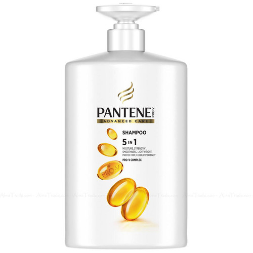 Pantene Pro-V Complex Advanced Care Shampoo 5-in-1 Strength Moisture Hair 1L