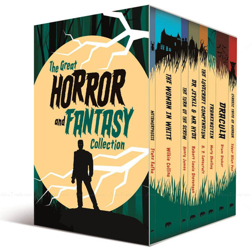 The Great Horror Collection 8 Books + Journal Great Reads Series Stories Box Set
