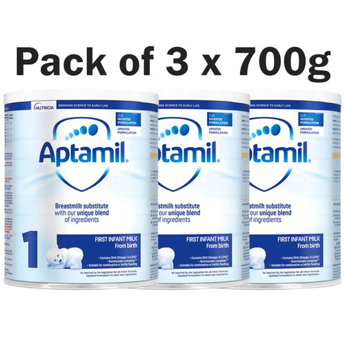Aptamil First Infant Milk Stage1 From Birth Powder Tin Substitute Pack of 3x700g