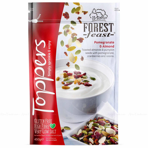 Forest Feast Pomegranate & Almond Topper Breakfast Seeds Nuts Granola Pack 450g