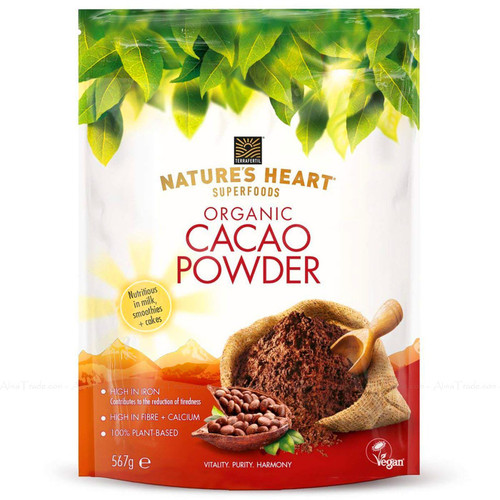 Terrafertil Nature's Heart Organic Raw Cacao Powder SuperFoods Healthy Pack 567g