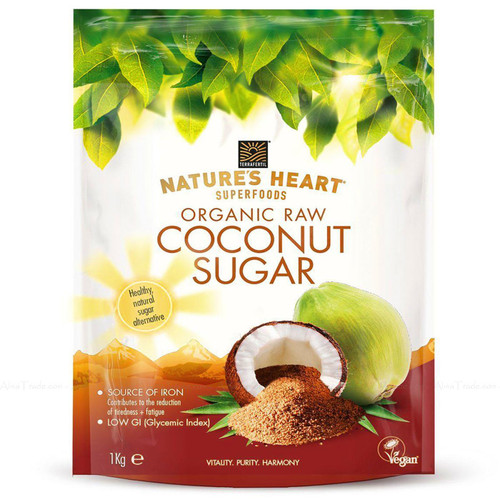 Terrafertil Nature's Heart Organic Raw Coconut Sugar SuperFoods Healthy Pack 1kg