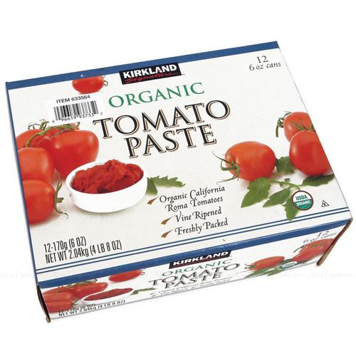 Kirkland Signature Organic Tomato Paste Pizza Pasta Sauce Tin Cans Pack 12x170g