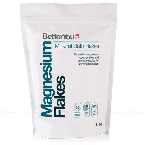 Better You Magnesium Flakes Body Muscle Tension Level Tissue Absorption Pack 1kg