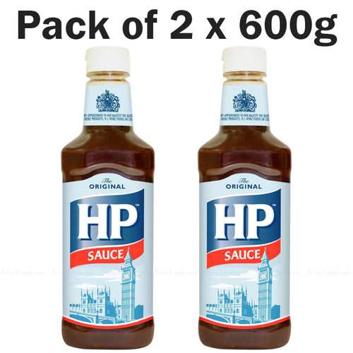 HP Brown Sauce Original Meat Spice Rich Tangy Flavour Taste - Pack of 2 x 600g
