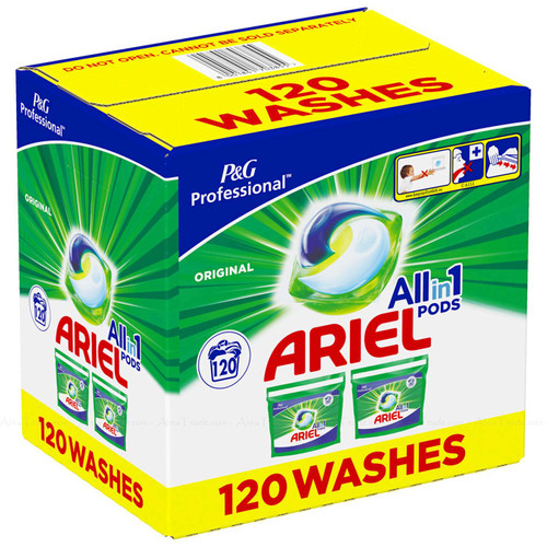 Ariel All in1 Original Pods Detergent Cleaning Power Washing Capsule Pack 120Pcs