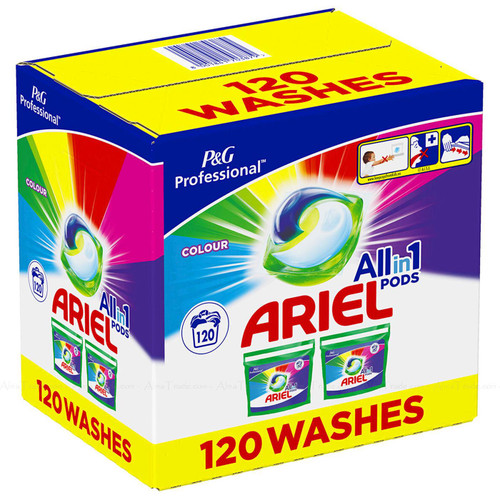 Ariel All in 1 Colour Pods Detergent Cleaning Power Washing Capsule Pack 120 Pcs