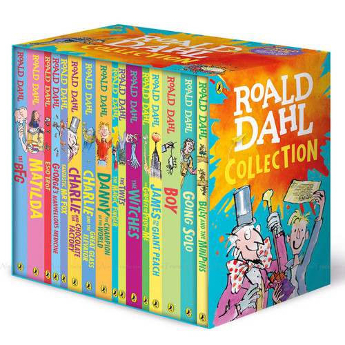 Roald Dahl Classic Reading Collection Witches BFG Matilda Pack 16 Books Box Set