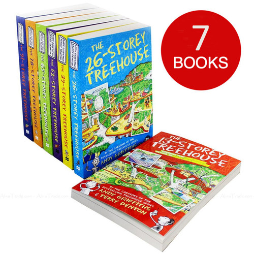 13 Storey Treehouse Collection Andy Griffiths Children Kids Stories 7 Books Set