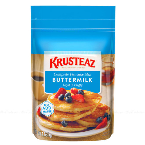 Krusteaz Buttermilk Complete Pancake Bag Mix Just Add Water Large Pack of 4.53kg
