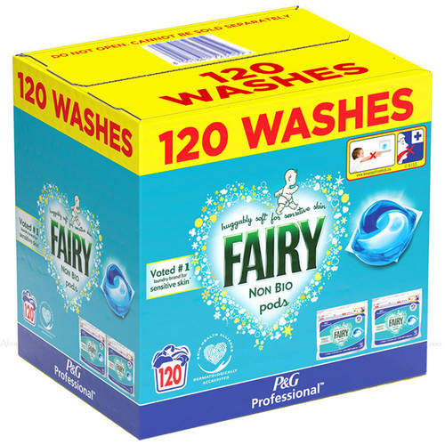 Fairy Non Bio Pods Clothes Detergent Cleaning Power Washing Capsule Pack 120 Pcs