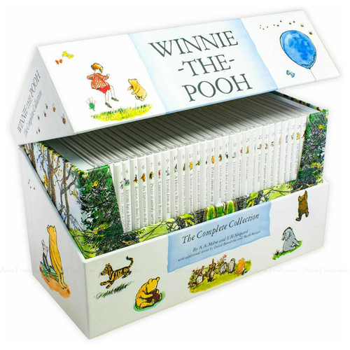 Winnie The Pooh Complete Collection Hardcover A.A. Milne Kids 30 Books Box Set