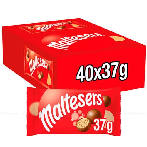 Maltesers Milk Chocolate Balls Shell Crunchy Honeycombed Malt Box Pack 40 x 37g