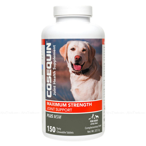 Cosequin Joint Health Supplement Maximum Strength Vitamin Chewable 150 Tablets