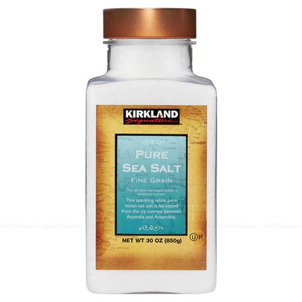 Kirkland Signature Spice Seasoning Pure Sea Salt 100%Natural Fine Grain Jar 850g