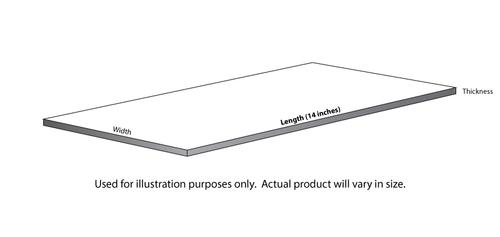 "EG-8208 - (HO - 1/8 Scale) - 2"" x 8"" - .022 x .090"" / 0,6 x 2,3mm (10 / Pkg)"