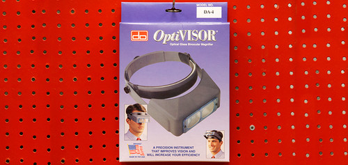 "Donegan Optical - OptiVisor (2x  magnefication at 10"")"