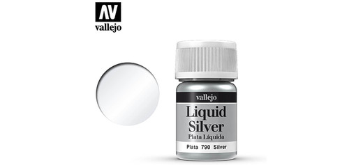 Vallejo - 70790 - Liquid Silver (35ml) (Alcohol Based)