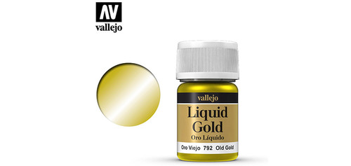 Vallejo - 70792 - Liquid Old Gold (35ml) (Alcohol Based)