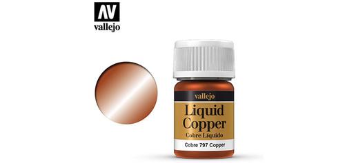 Vallejo - 70797 - Liquid Copper (35ml) (Alcohol Based)