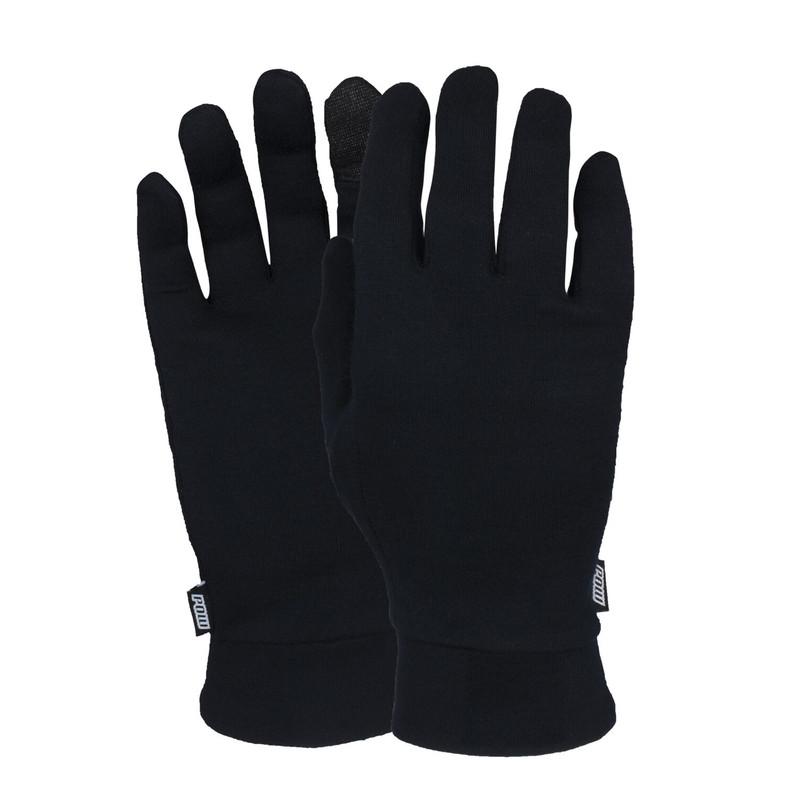 POW Merino Glove Liners Black