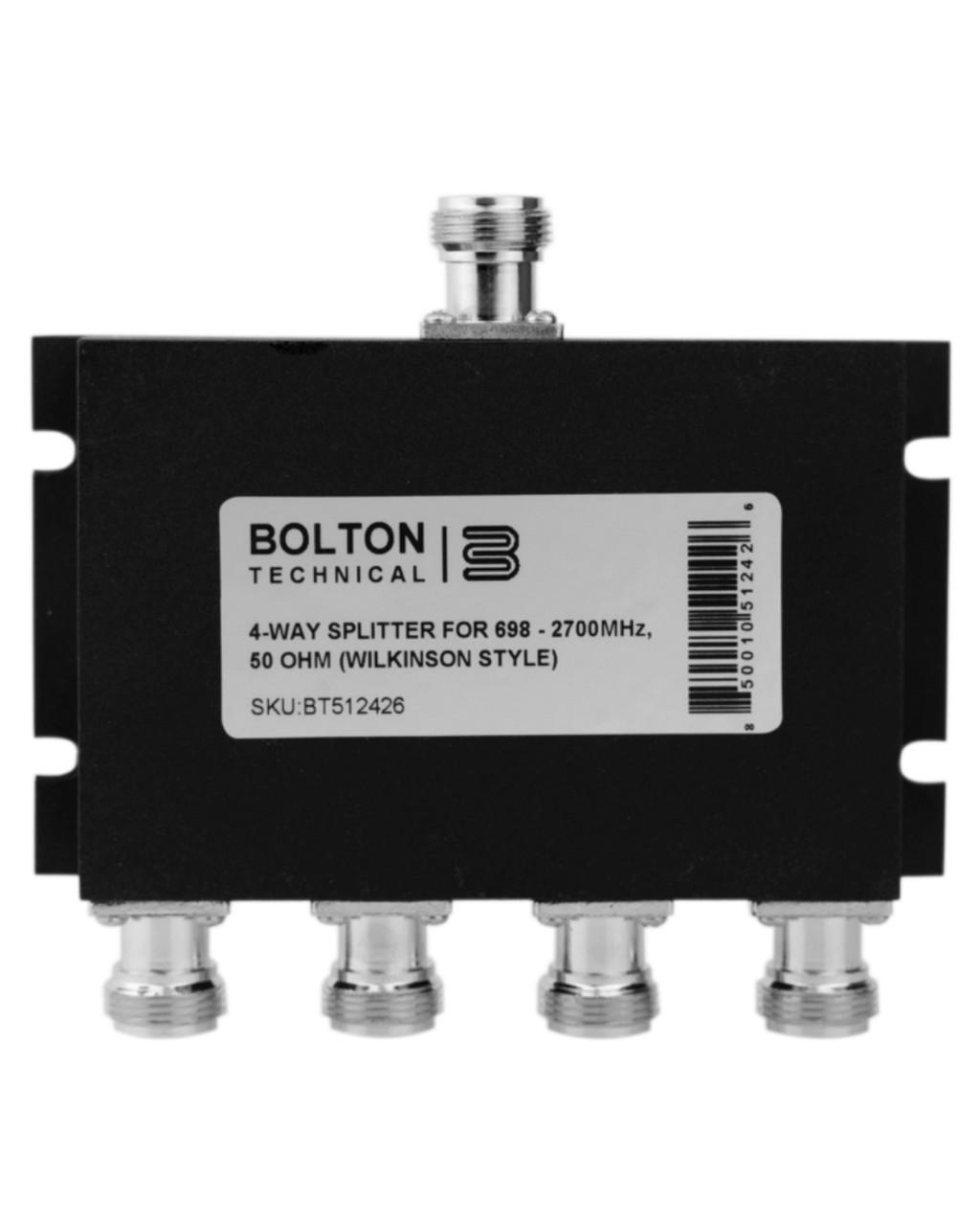4-Way Splitter for 689-2700 MHz Wilkinson Style 50 Ohm