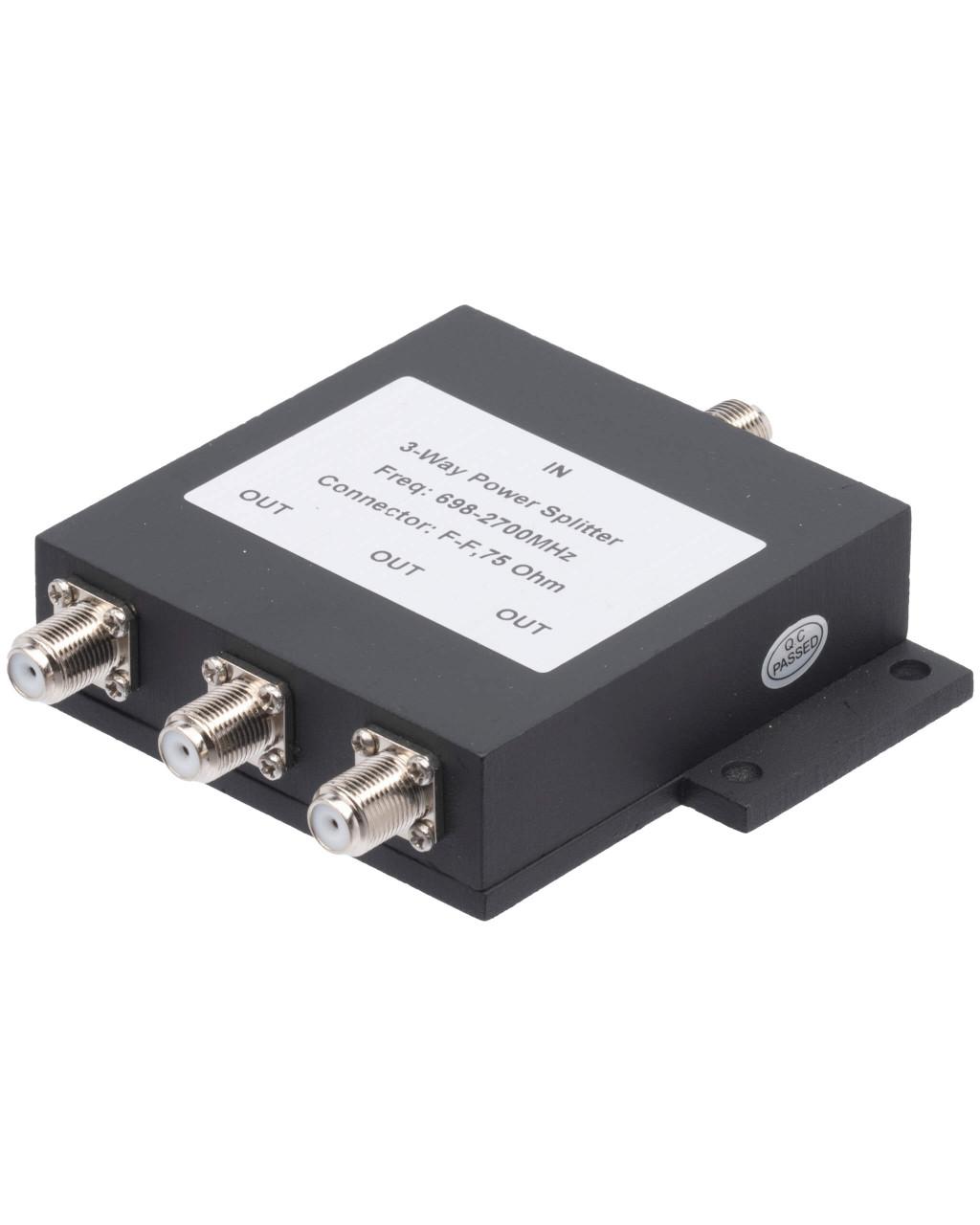 3-Way Splitter for 689-2700 MHz Wilkinson Style 75 Ohm