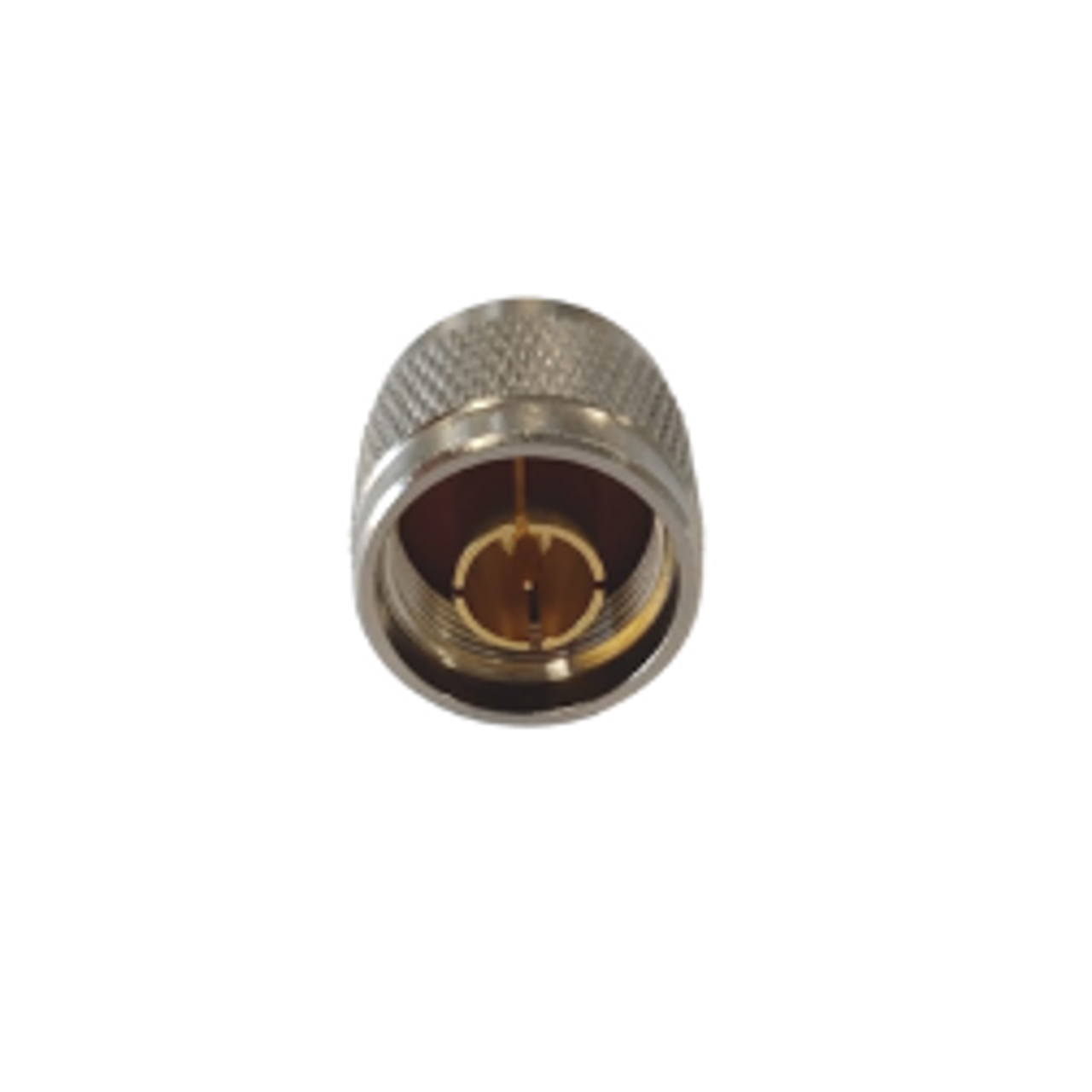 Bolton Barrel Connector - N-Male to SMA-Female bottom view