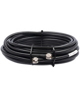 Bolton 400 Low Loss Cable N-Male to N-Male PE Black Jacket 15 meters