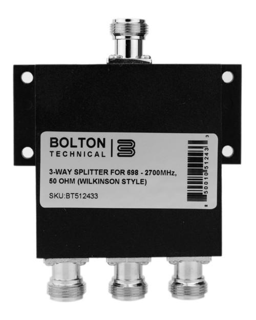 3-Way Splitter for 689-2700 MHz Wilkinson Style 50 Ohm