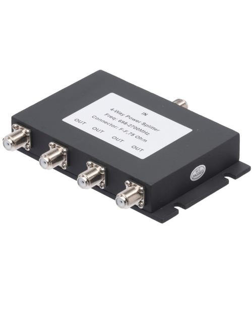 4-Way Splitter for 689-2700 MHz Wilkinson Style 75 Ohm