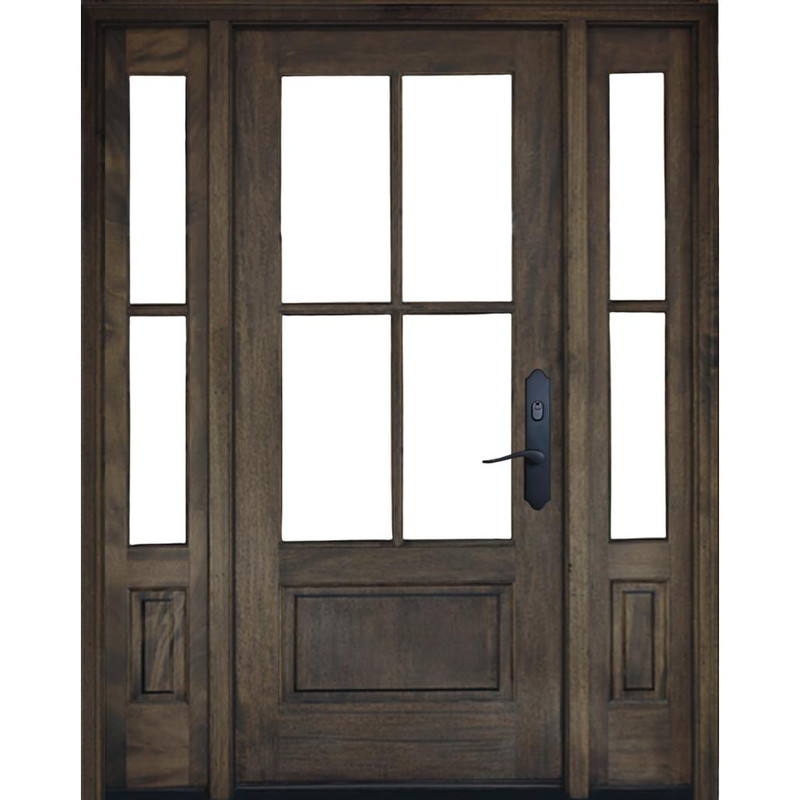 Grand Entry Doors Andalucia 4 Lite Entry Door with Sidelites