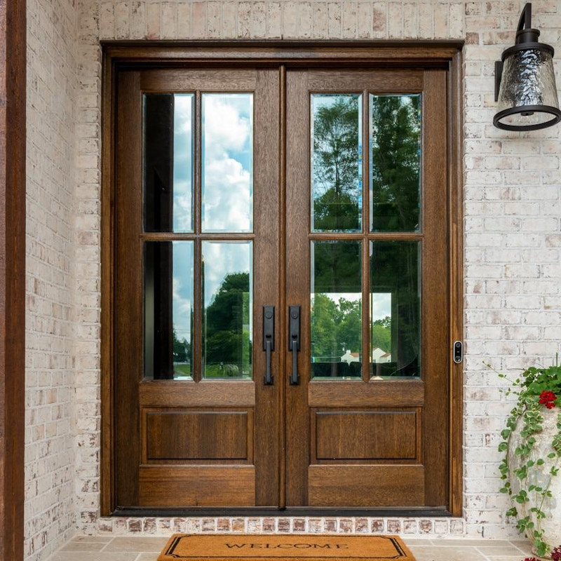 Grand Entry Doors Andalucia 4-Lite True Divided Lite Double Entry Door