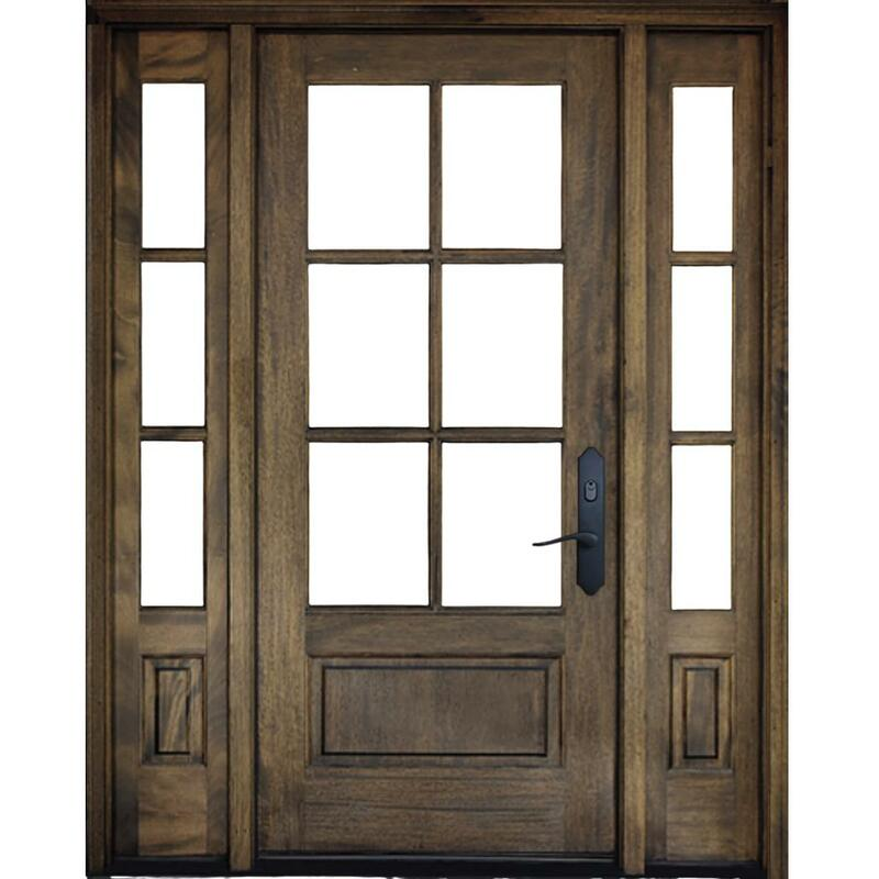 Grand Entry Doors Andalucia 6 Lite Entry Door with Sidelites
