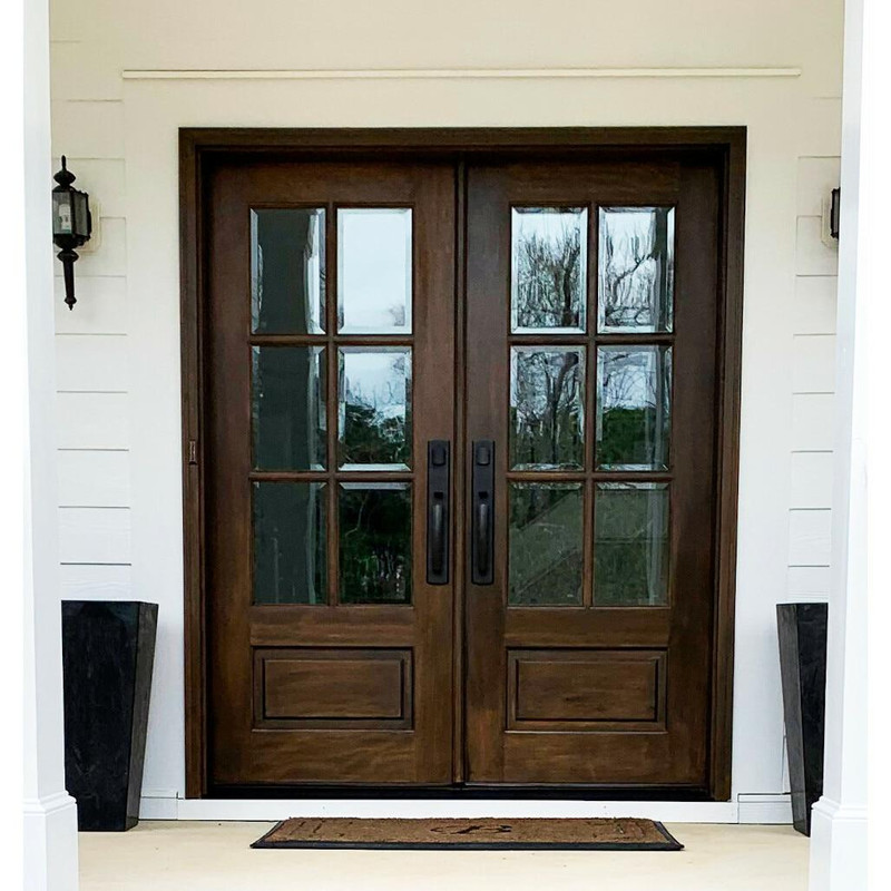 Grand Entry Doors Andalucia 6-Lite True Divided Lite Double Entry Door