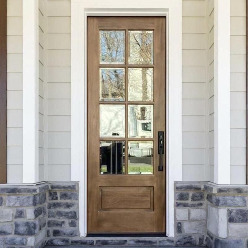 Grand Entry Doors Andalucia 8-Lite True Divide Lite Mahogany Single Entry Door