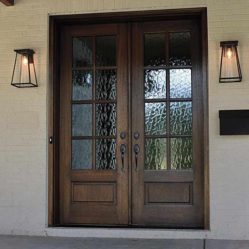 Grand Entry Doors Andalucia 8-Lite True Divided Lite Double Entry Door