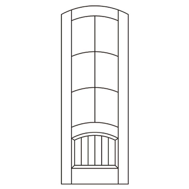 Grand Entry Doors Nantahala 6 Lite Knotty Alder Arch-Top Single Entry Door