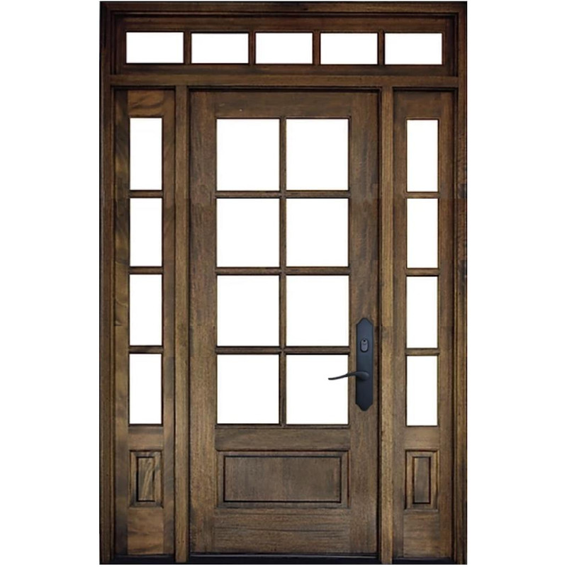 Grand Entry Doors Andalucia 8 Lite Entry Door with Sidelites and Transom