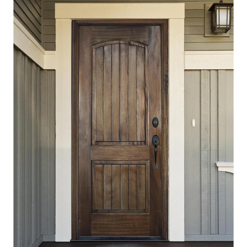 Grand Entry Doors Ventura Solid Panel Mahogany Entry Door