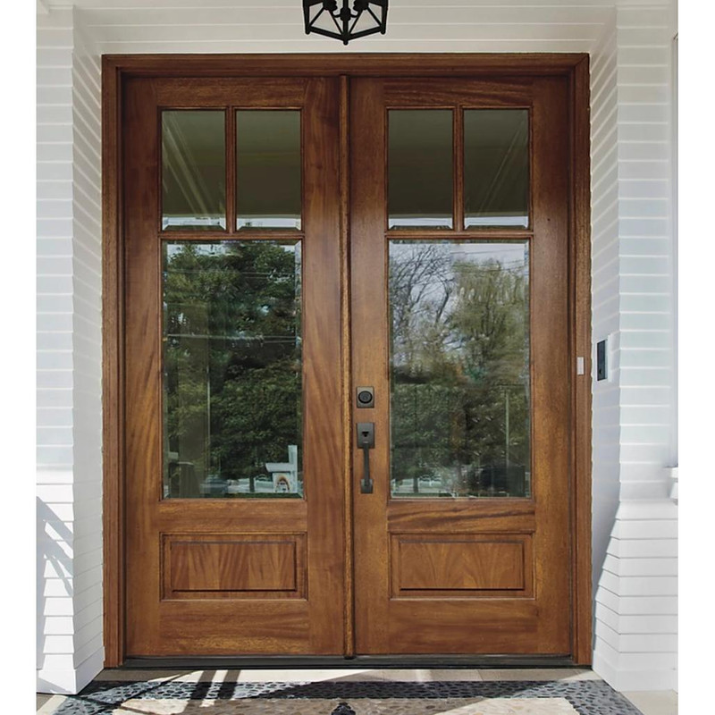 Grand Entry Doors Andalucia 3-Lite True Divided Lite Double Entry Door