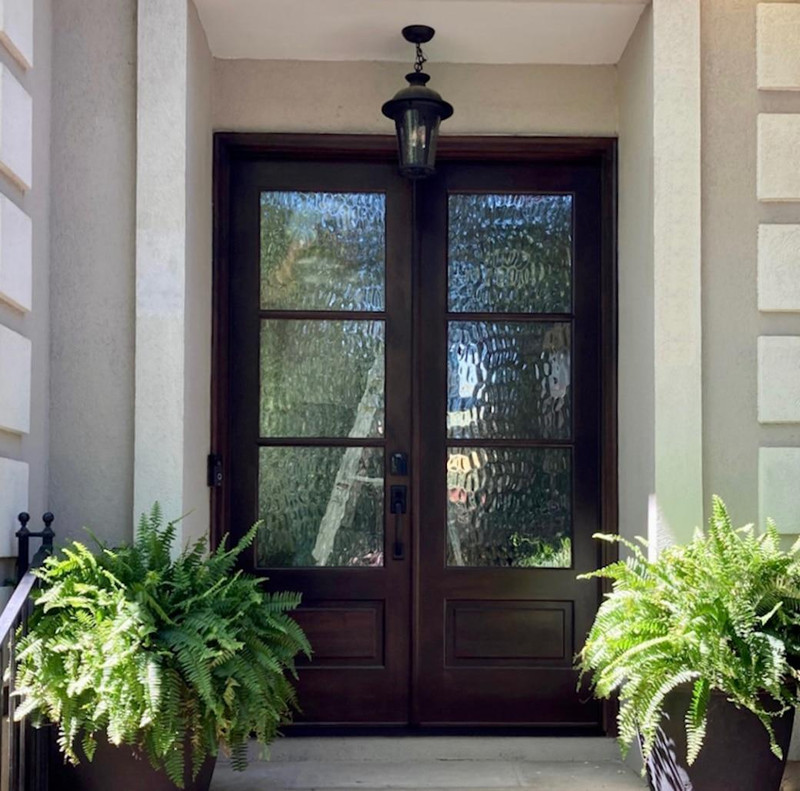 Grand Entry Doors Andalucia 3-Lite 1W3H True Divided Lite Double Entry Door