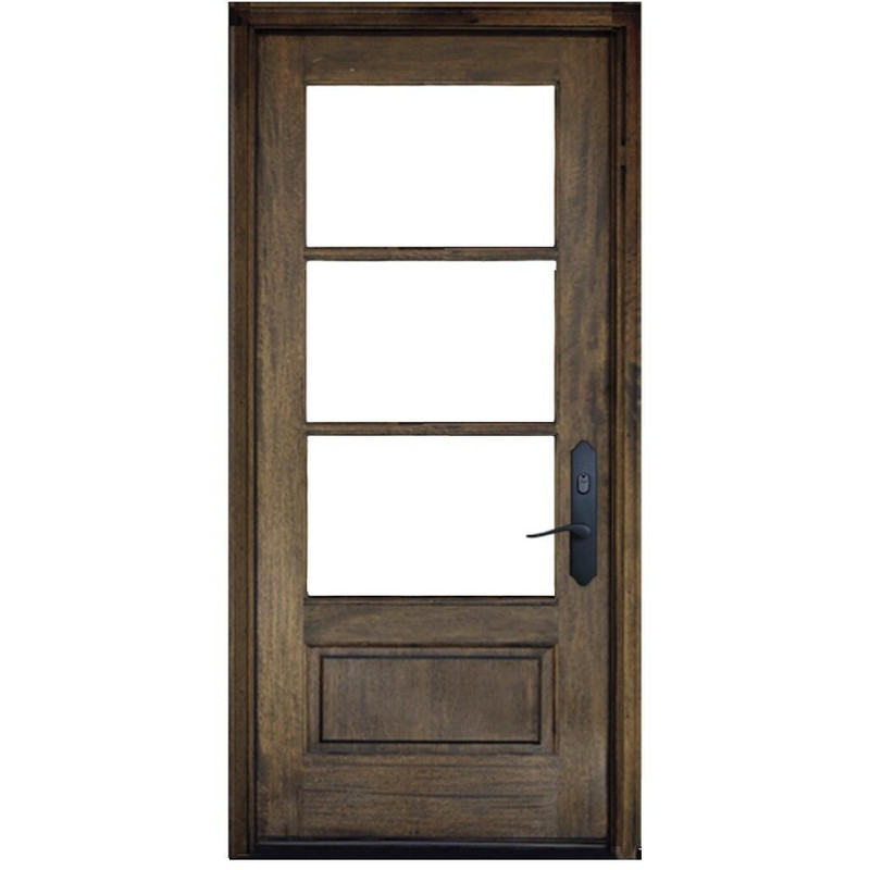 Grand Entry Doors Andalucia 3-Lite 1W3H True Divided Lite Single Entry Door