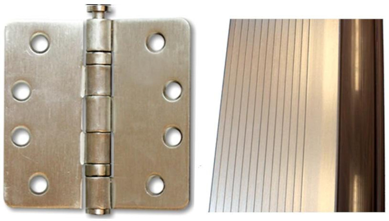 Grand Entry Doors Brushed Nickel Hinges and Sills Thresholds