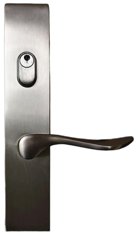Grand Entry Doors Multi-Point - Emtek Modern Style Square - Available in Flat Black or Satin Nickel