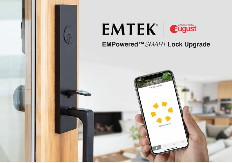 Grand Entry Doors Tubular - Lock Upgrade - Emtek EMPowered SMART Lock