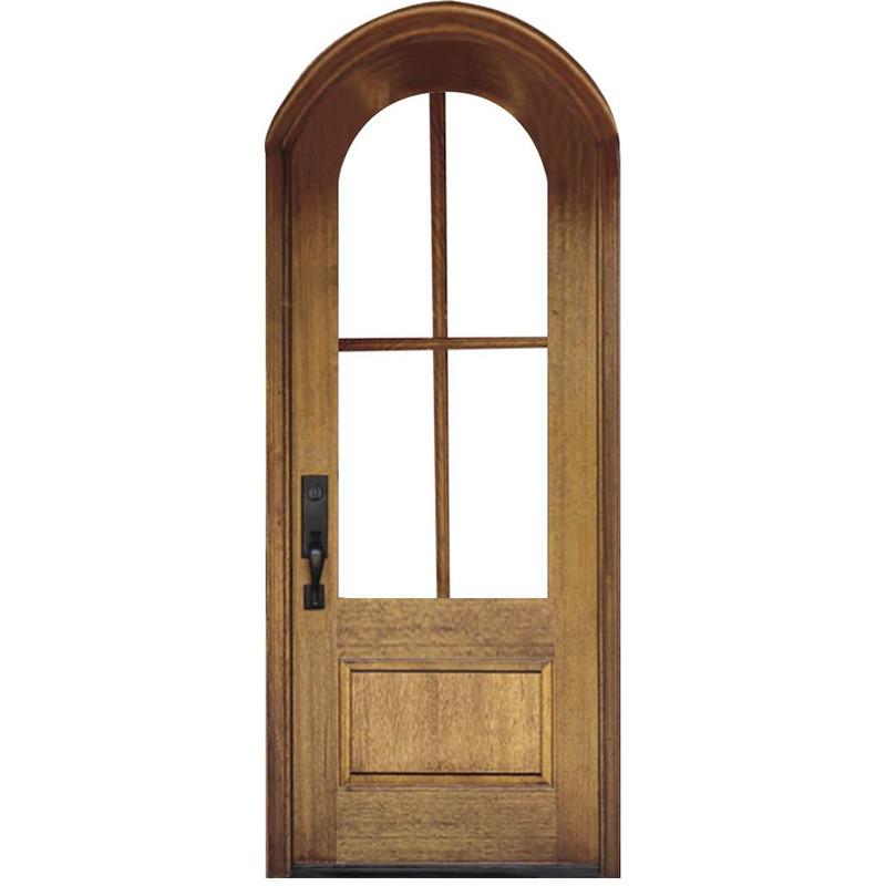Grand Entry Doors - 4 Lite True Divided Lite Half-Round Single Entry Door