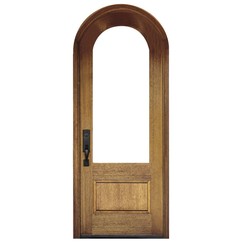 Grand Entry Doors - Grand Entry 1 Lite Half-Round Single Entry Door